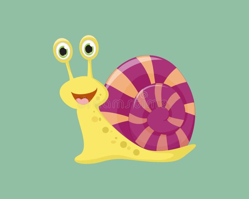 Cute Snail cartoon. Vector Illustration of Cute Snail cartoon stock illustration