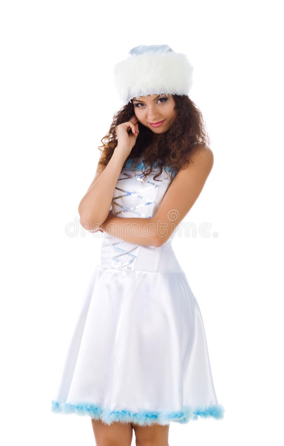 Cute Snow Maiden stock images
