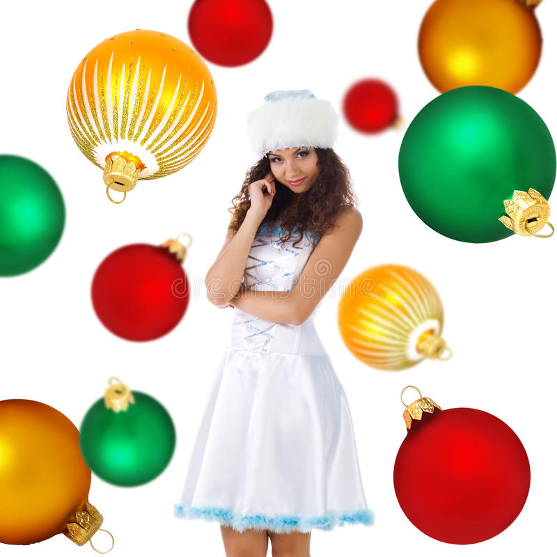 Download Cute Snow Maiden stock photo. Image of caucasian, smiling - 11076492