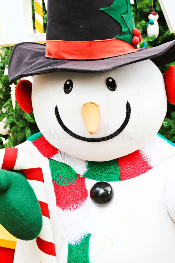 Cute snowman doll royalty free stock images