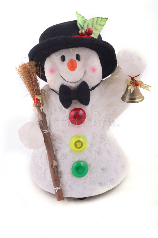Cute Snowman with hat royalty free stock image