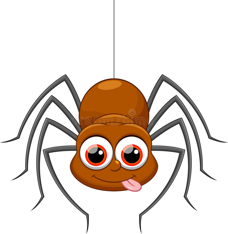 Free Cute Spider Cartoon Stock Images - 45809644