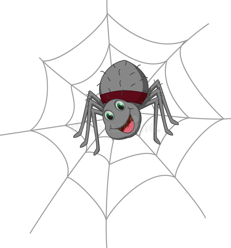 Free Cute Spider Cartoon Stock Images - 58378204