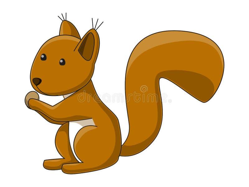 Download Cute squirrel stock vector. Illustration of childish - 22979433