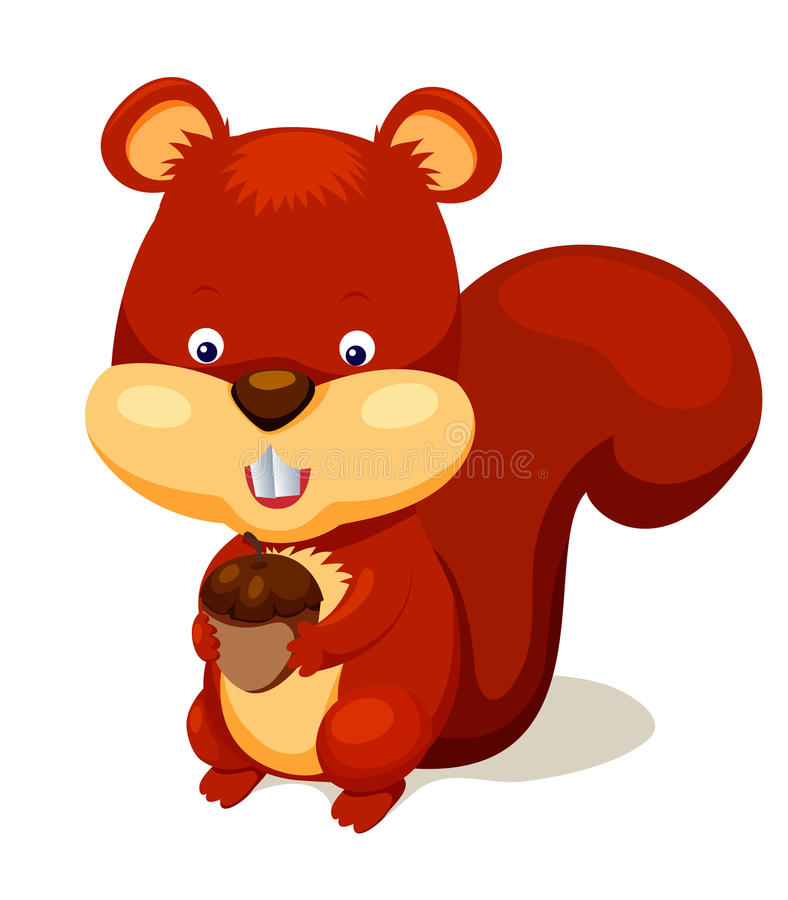 Download Cute squirrel stock vector. Image of nature, clip, food - 26044022