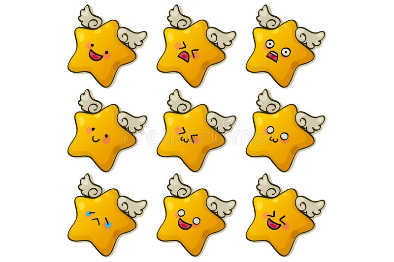 Download Cute stars stock vector. Image of human, expression, symbol - 19278188