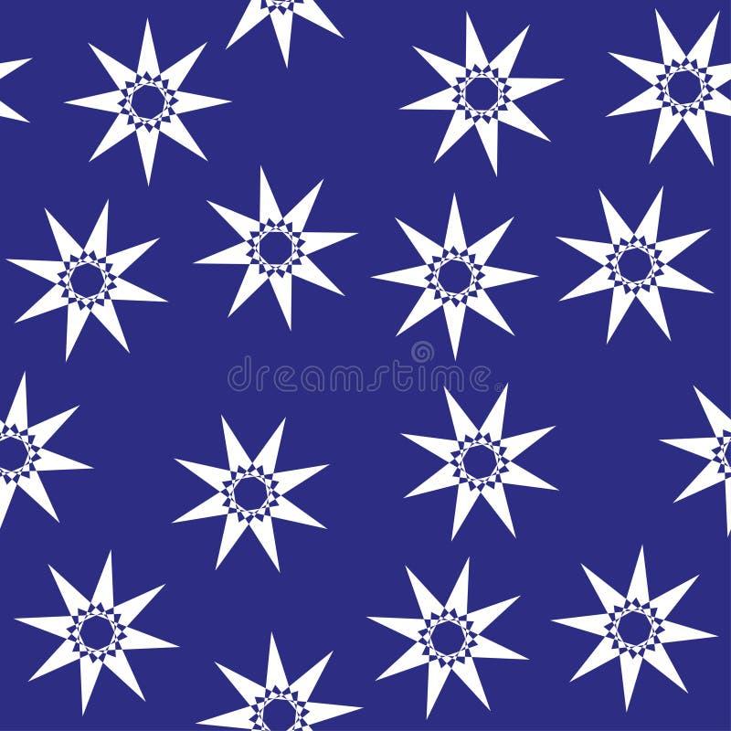 Cute stars seamless pattern. Nursery illustration, good for room decor, wall art, baby shower greeting card royalty free illustration