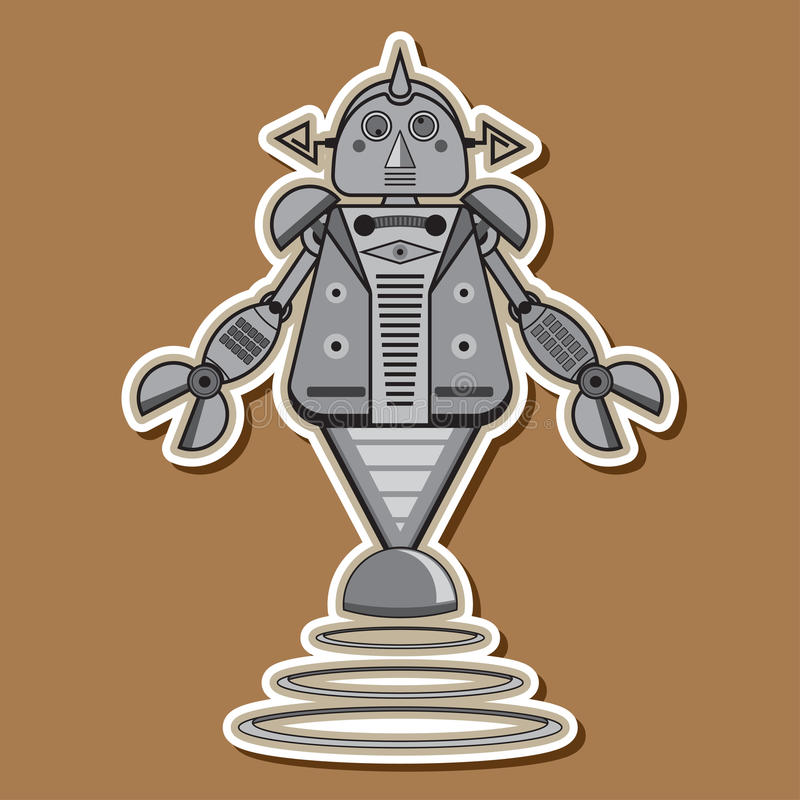Cute Steel Robot Vector Design royalty free stock image