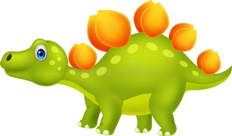 Cute stegosaurus cartoon stock illustration