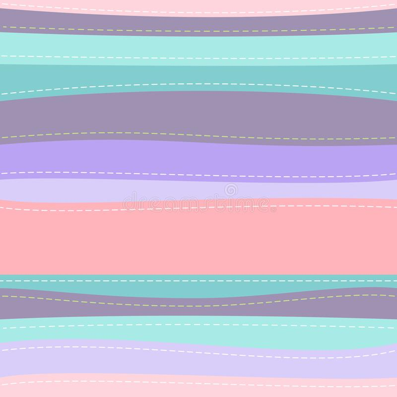 Cute striped seamless pattern. The pattern can be repeated without any visible seams royalty free illustration