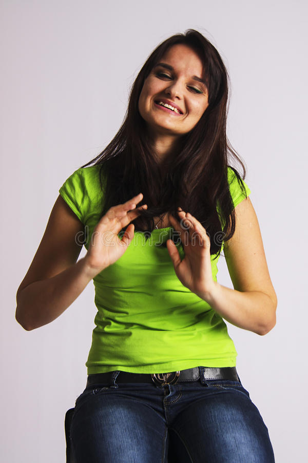 Cute student girl royalty free stock photos