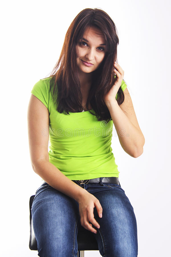 Cute student girl royalty free stock photo
