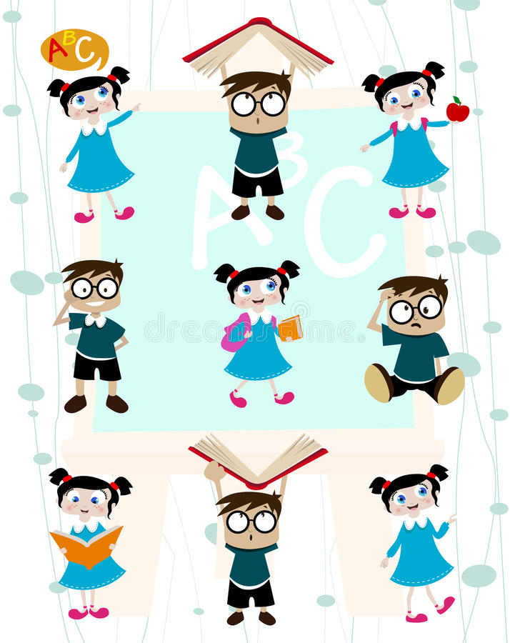 Download Cute Students Cartoon Set Royalty Free Stock Photo - Image: 16310635