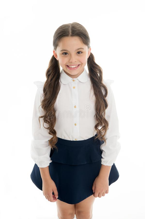 Cute and stylish. Gorgeous tails perfect for every day of week. Cute everyday back to school hairstyles. Schoolgirl royalty free stock photography