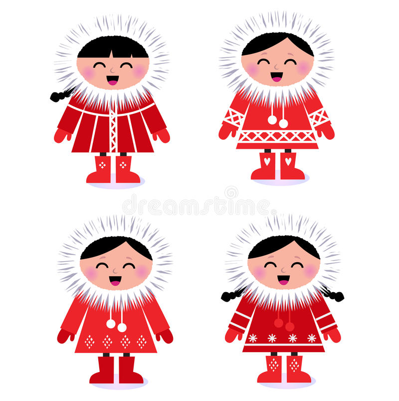 Download Cute Stylized Eskimo Collection Stock Vector - Illustration: 22502125