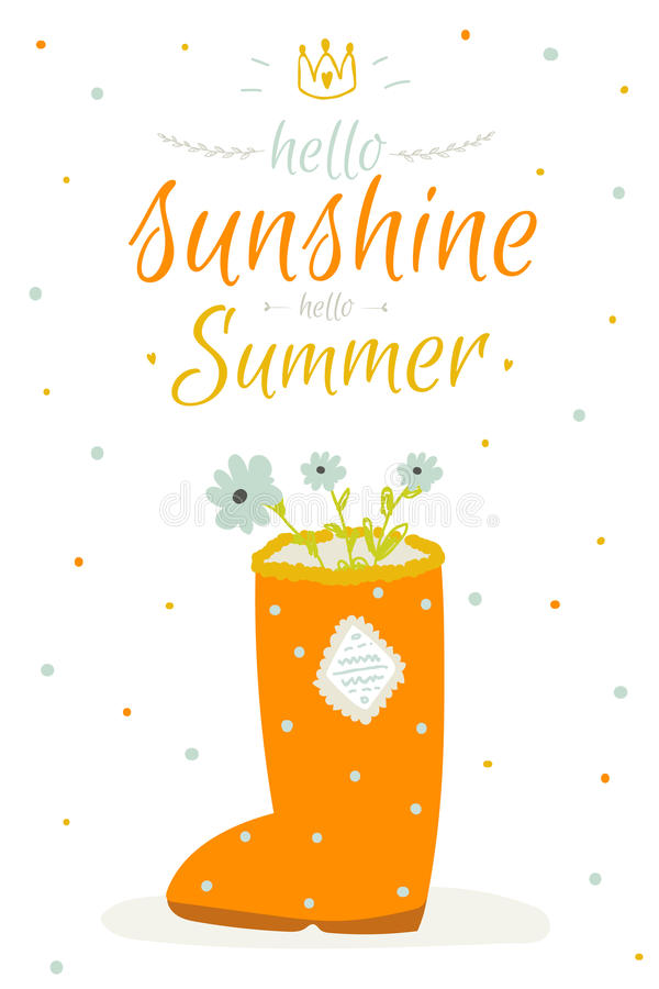 Cute Summer Card With Character Vector Illustration And Typographic.  Inspirational And Motivational Quotes Poster. Good For Happy Birthday  Greetings And ...