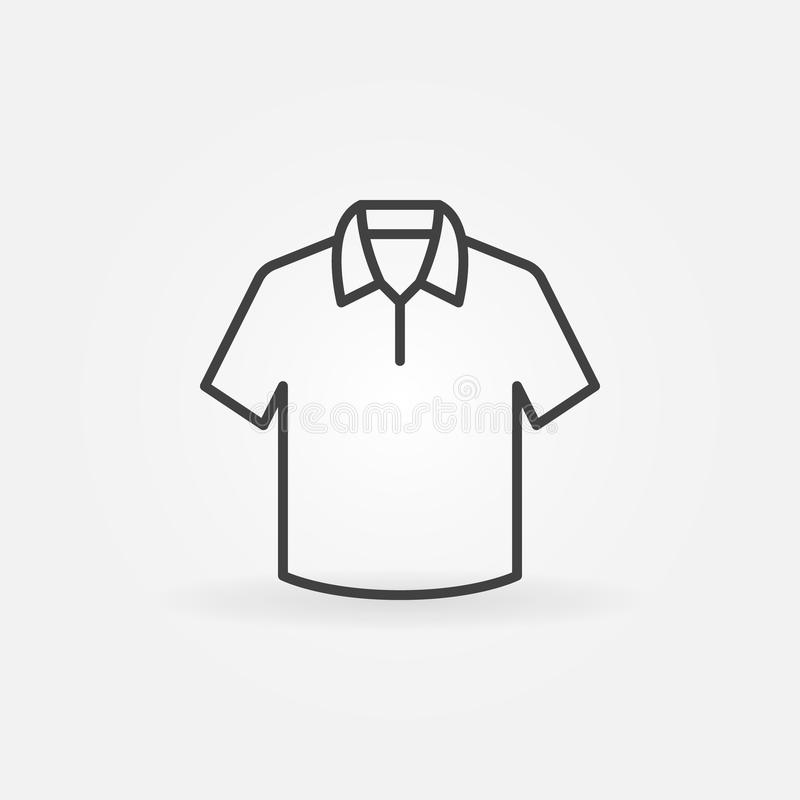Cute T-shirt vector outline icon or symbol royalty free illustration