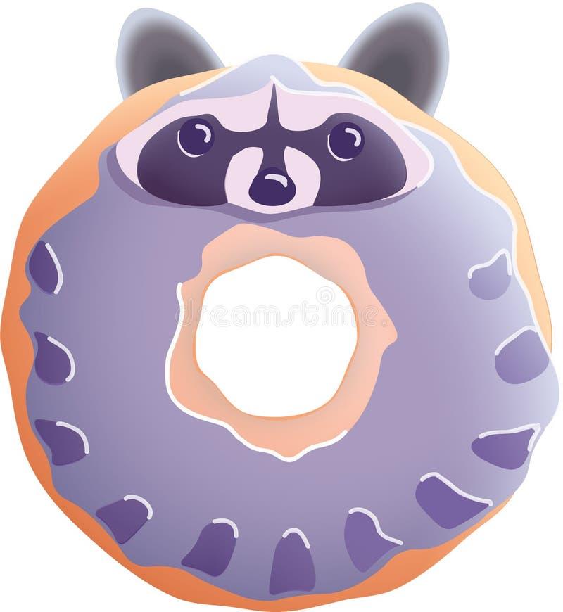 Raccoon donut royalty free stock photography