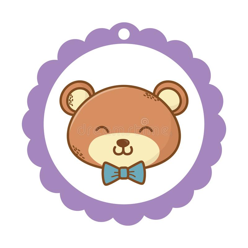 Cute teddy bear cartoon stock illustration