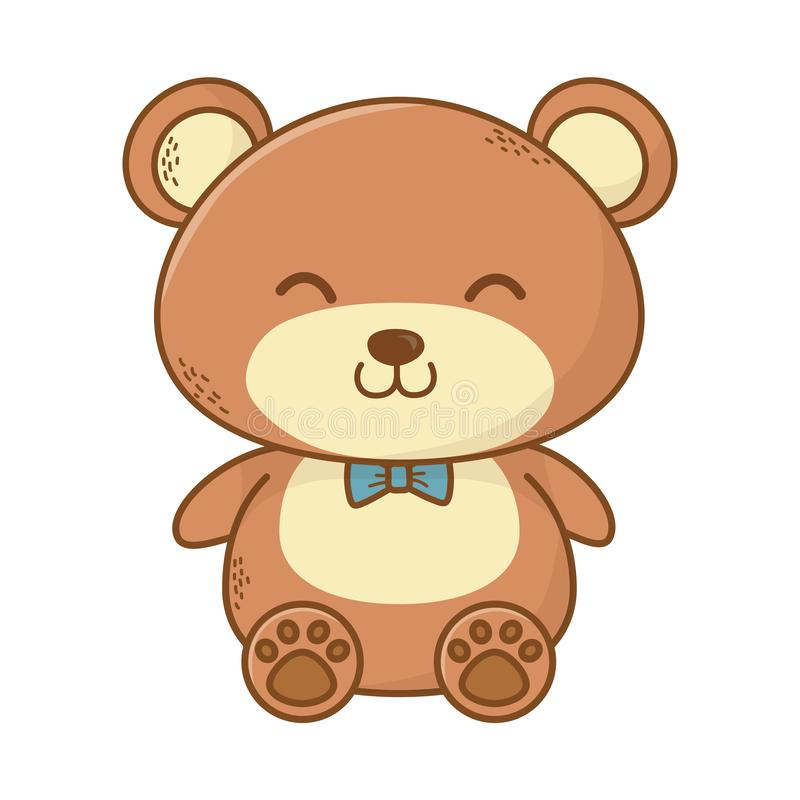 Cute teddy bear cartoon vector illustration