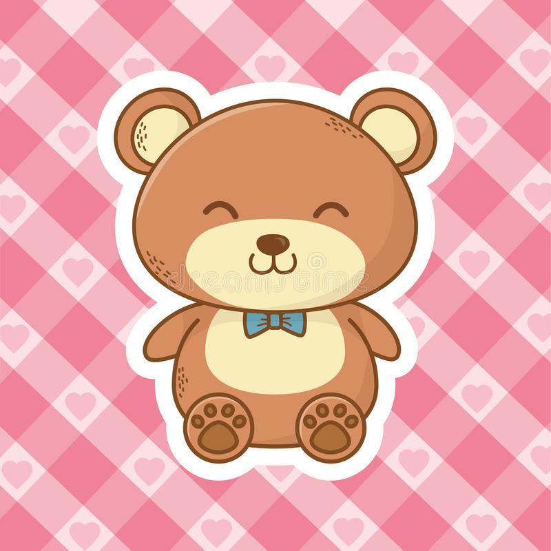 Cute teddy bear cartoon royalty free illustration