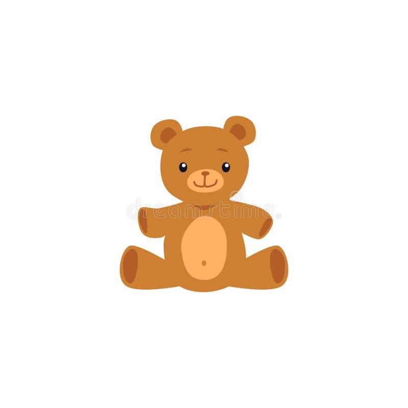 Cute teddy bear toy image or icon flat cartoon vector illustration isolated. vector illustration
