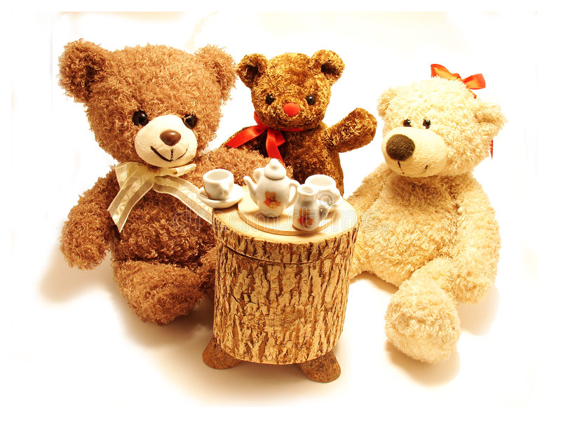 Cute Teddy Bears stock image. Image of soft, beverage ...