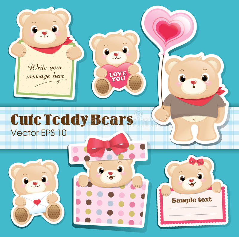 Free Cute Teddy Bears Collection Stock Photo - 23849520