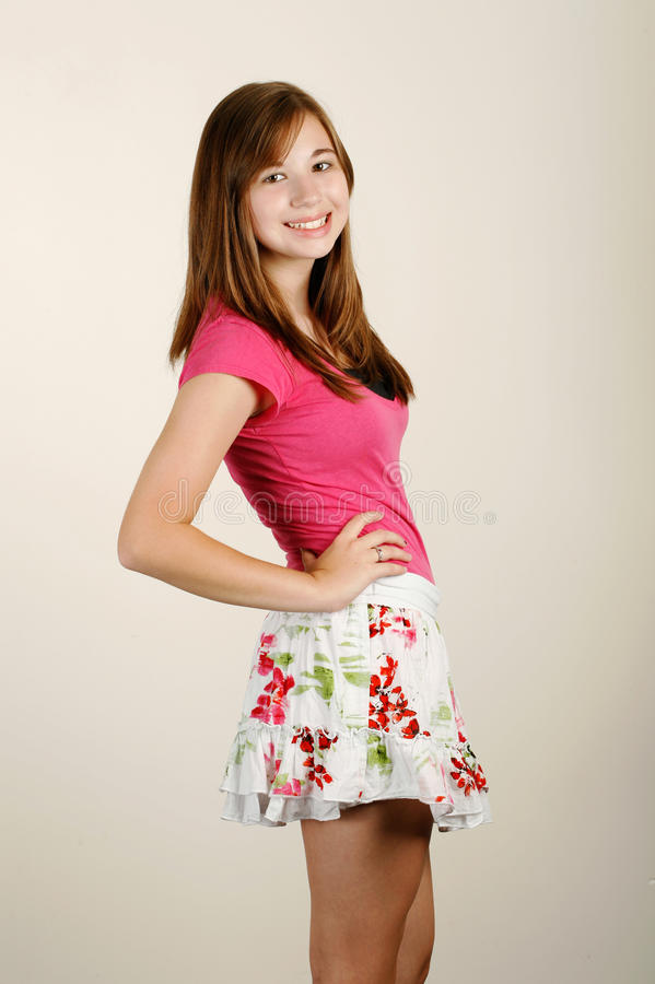 Cute Teen Fashion Stock Photo. Image Of Beautiful, Skirt