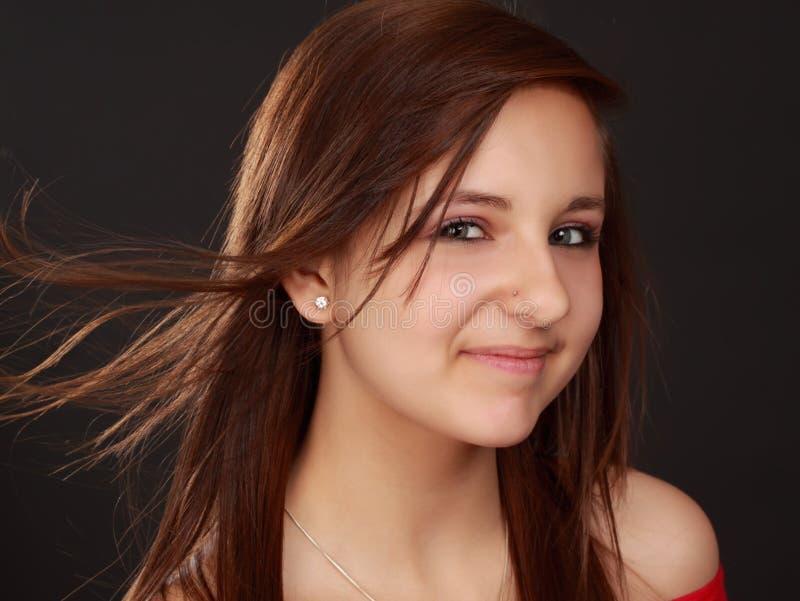 Cute teen girl stock images