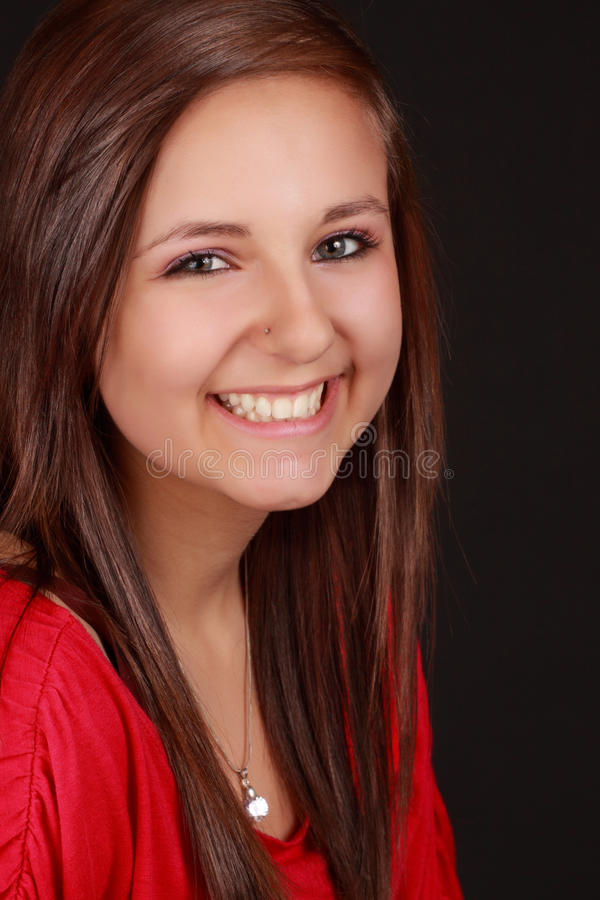 Cute teen girl royalty free stock images
