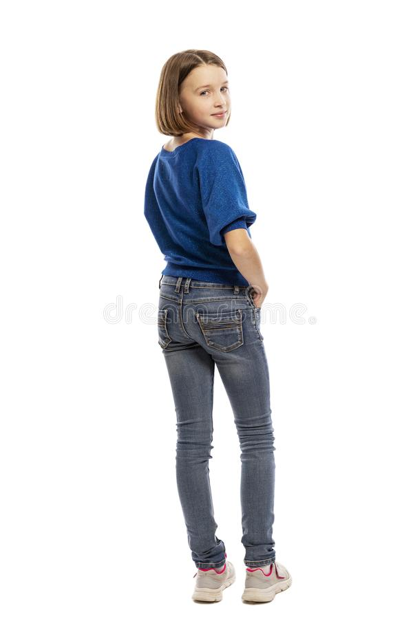 Cute teen girl in full growth royalty free stock photography