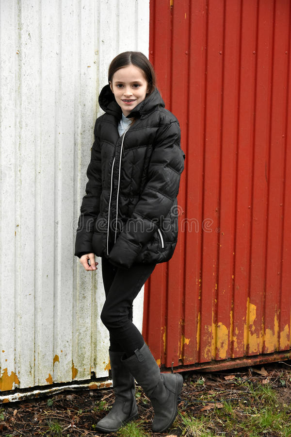 Cute teenage girl stock photography