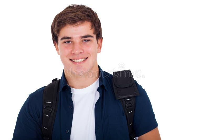 Cute teenager boy stock photo