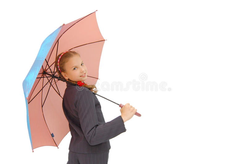 Download Cute Teenager Girl With A Pink Umbrella Stock Image - Image: 11522581