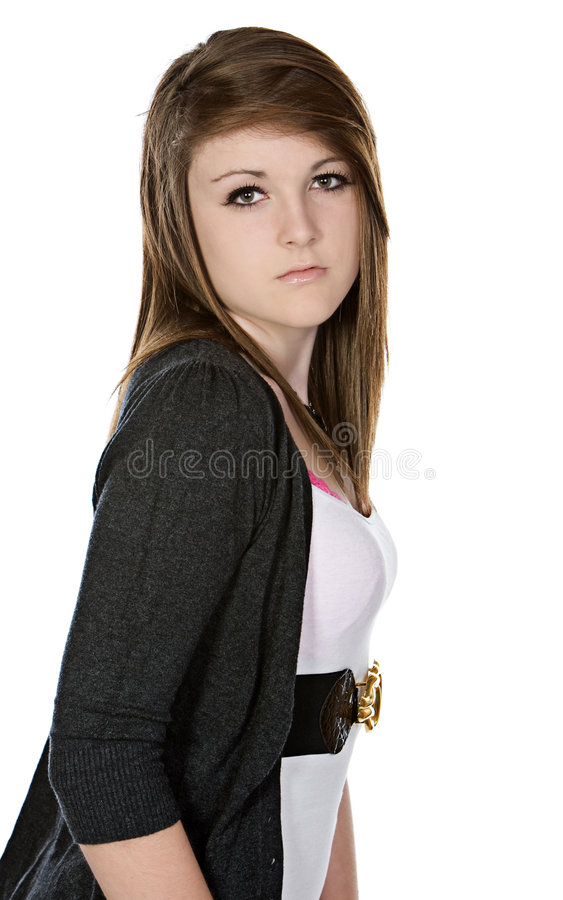 Download Cute Teenager Looking Into The Camera Stock Photo - Image: 9124588