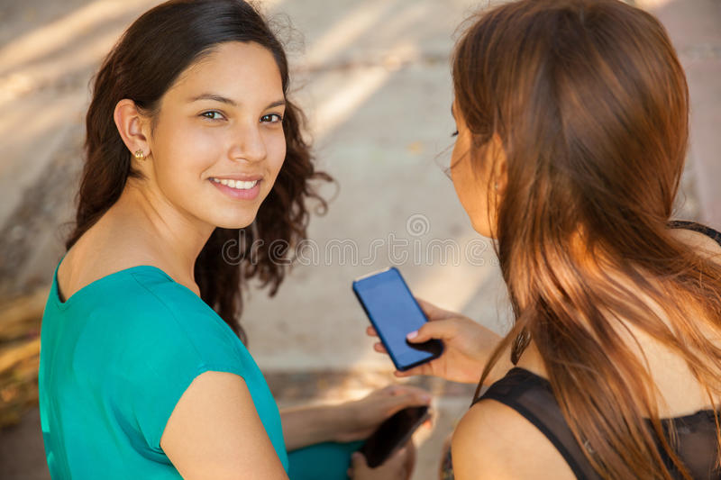 download cute teenagers with technology stock photo image of cute brunette 43322456 - Cute Pictures Of Teens