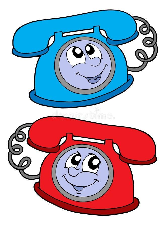 Cute telephones vector illustration royalty free illustration