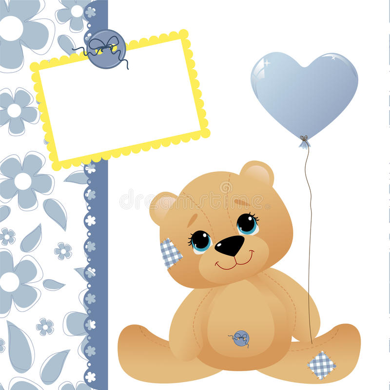Cute template for baby card vector illustration