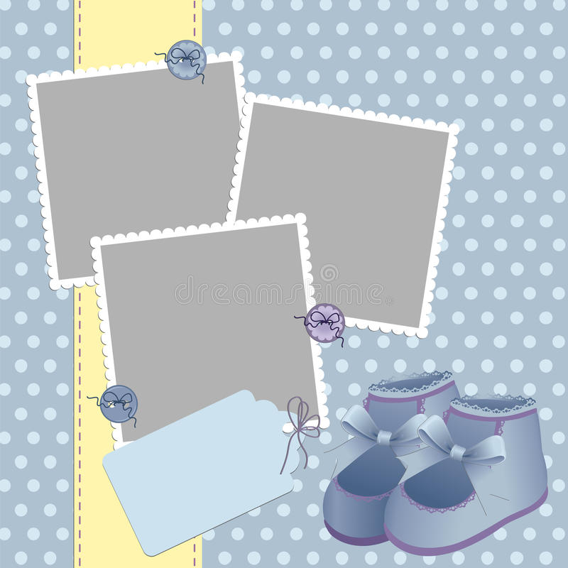 Download Cute Template For Baby's Card Stock Vector - Image: 19507883