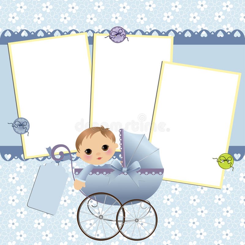 Cute template for baby's card royalty free illustration