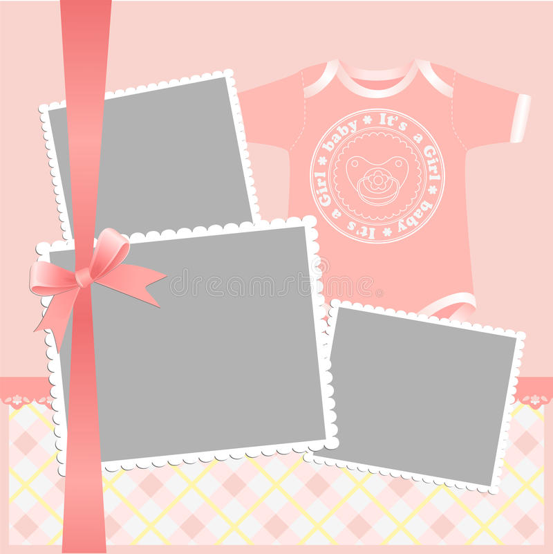 Download Cute Template For Baby's Card Stock Vector - Image: 21001193