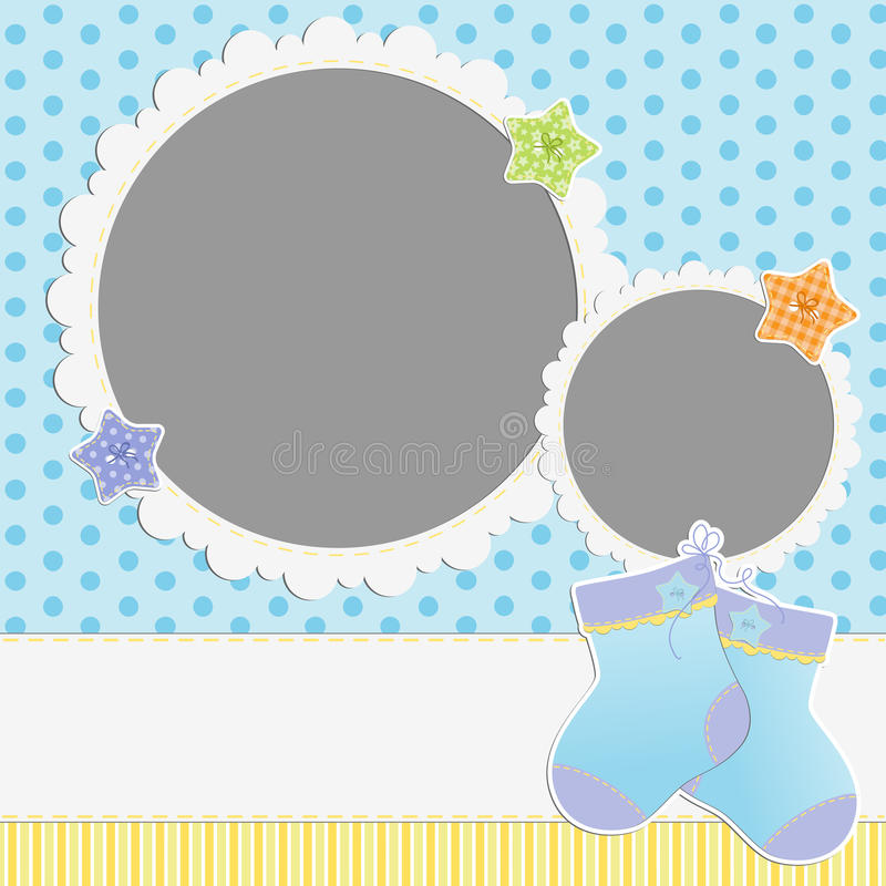 Cute template for baby's card vector illustration