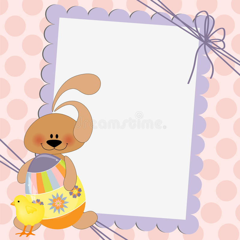 Cute Template For Easter Postcard Stock Vector  Illustration Of