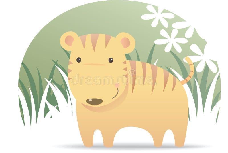 Cute Tiger. Illustration cartoon of Cute Tiger royalty free illustration