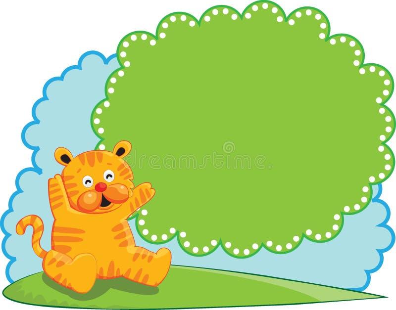 Cute Tiger Banner stock photos