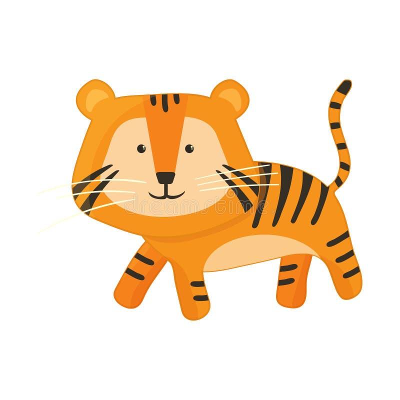Cute tiger illusration vector stock. Eps10 vector illustration