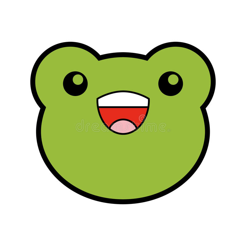 cute toad face cartoon stock vector illustration of illustration rh dreamstime com