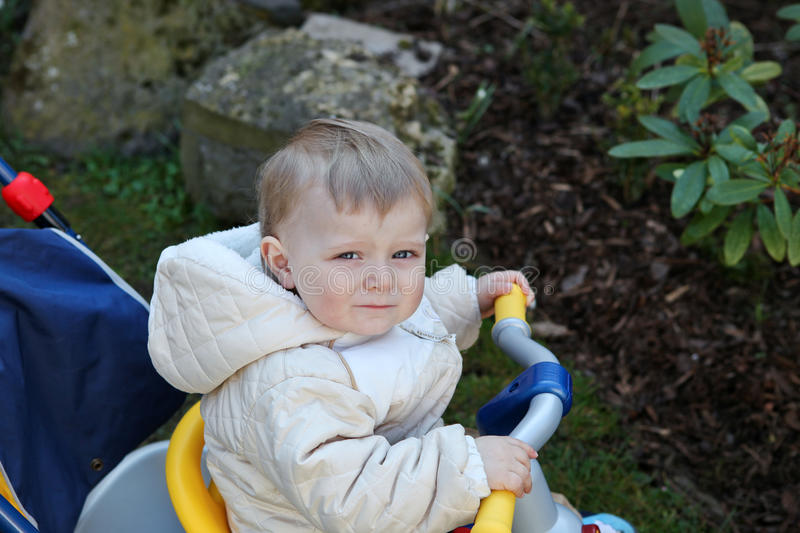 Download Cute Toddler Boy On Children Bycicle Stock Photo - Image: 27085992
