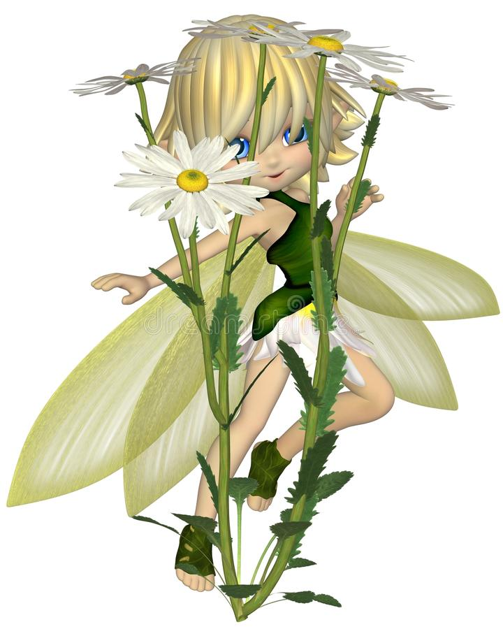 Download Cute Toon Daisy Fairy, Skipping Stock Illustration - Image: 38889584